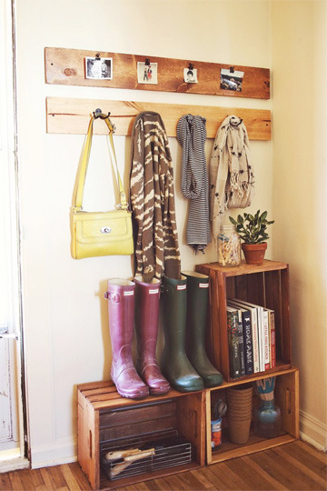 Makeshift Mudroom