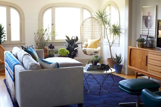 Texture + Color + Plants= Rental makeover